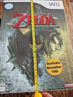 3 Large Store Display Boxes Legend of Zelda Minish Cap Twilight Princess 4 Sword