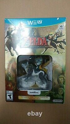 Brand New The Legend of Zelda Twilight Princess HD with Amiibo Nintendo Wii U