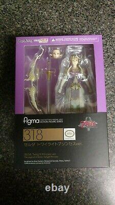 Figma 318 zelda of legend of Zelda twilight princess New in box US seller