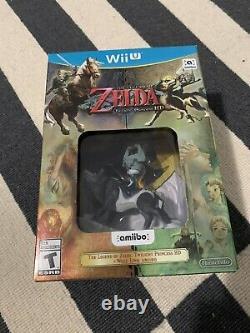Legend Of Zelda Twilight Princess HD + Wolf Link Amiibo SEALED