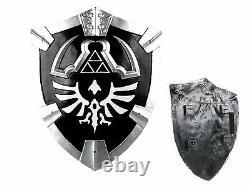 Legend of Zelda Real Steel Dark Master Sword, shield set Link cosplay twilight