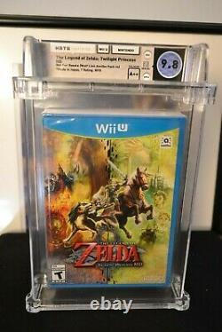 Legend of Zelda Twilight Princess HD (Wii U, 2016) A++ 9.8 Mint WATA Graded VGA