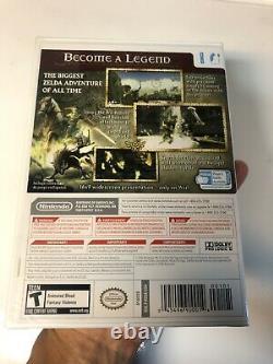 Legend of Zelda Twilight Princess Nintendo Wii Brand New In Case 1st Rare Print