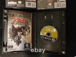 Legend of Zelda Twilight Princess wind waker, master quest four swords gamecube