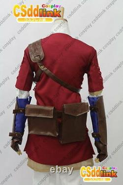 Legend of zelda twilight princess Red link cosplay costume outfit