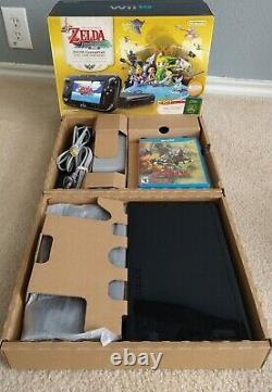 Nintendo Wii U The Legend of Zelda Windwaker 5 Amiibos Twilight Princess CIB Box