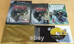 THE LEGEND OF ZELDA TWILIGHT PRINCESS for NINTENDO GAMECUBE WITH GOLD ENVELOPE
