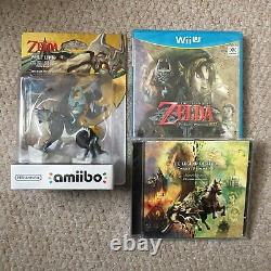 The Legend Of Zelda The Twilight Princess+ Amiibo Rare Limited Nintendo Wii-U