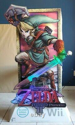 The Legend Of Zelda Twilight Princess Wii Retail Standee
