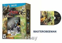 The Legend of Zelda Twilight Princess HD Amiibo Bundle New + Soundtrack Wii U