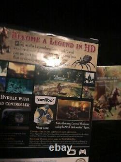 The Legend of Zelda Twilight Princess HD Amiibo with sound track Wii U Sealed New