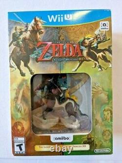 The Legend of Zelda Twilight Princess HD Nintendo Wii U Amiibo Game Bundle NEW