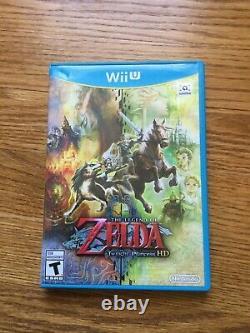 The Legend of Zelda Twilight Princess HD Nintendo Wii U COMPLETE Game+Case+Manu