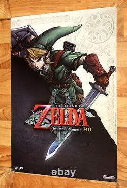 The Legend of Zelda Twilight Princess HD Very Rare Promo Poster Nintendo Wii U