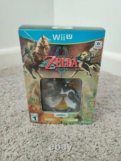 The Legend of Zelda Twilight Princess HD (Wii U) WITH Amiibo BRAND NEW SEALED