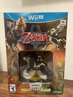 The Legend of Zelda Twilight Princess HD With Wolf Link Amiibo (Wii U, 2016)