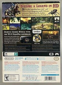 The Legend of Zelda Twilight Princess HD + Wolf Link Amiibo NEW & SEALED Wii U