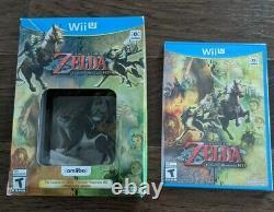 The Legend of Zelda Twilight Princess HD with Wolf Link Amiibo New Sealed Wii U