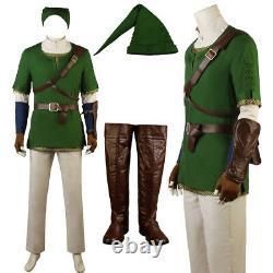 The Legend of Zelda Twilight Princess Link Cosplay Costume Custom Made Halloween