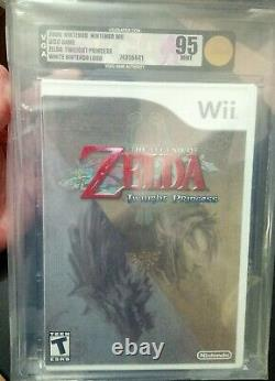 The Legend of Zelda Twilight Princess (Nintendo Wii, NES) VGA 95 MINT WATA New