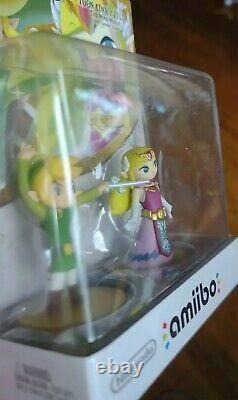 Toon Link Zelda 2 Pack Amiibo Wind Waker Switch 3DS Wii U SEALED Legend of Zelda