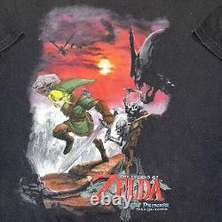 VTG The Legend of Zelda Twilight Princess Video Game GameCube Promo T Shirt Sz L